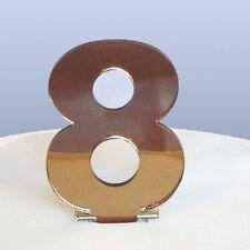 Contemporáneo adorno para tartas Número 8 - Reflectante Bronce