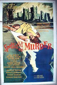 "SPOTLIGHT ON MURDER Pleins Feux Sur l'Assassin US movie poster 27x41"" Film 1961"
