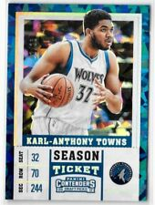 2017-18 Contenders KARL-ANTHONY TOWNS /23 Cracked Ice Season Ticket Timberwolves