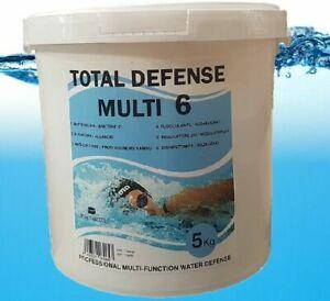 Pastiglie per piscina complete A 6 FUNZIONI 5 kg cloro ph antialghe ECC..TOP