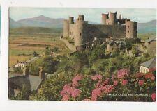 Harlech Castle & Snowdon 1980 Postcard 328a