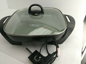 "BELLA (14669) 22858 Electric Skillet JH-001A 12"" x 12"" Black (5E2)"