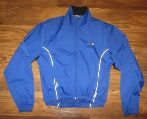 Canari BioVent Mens Long-Sleeve Full-Zip Cycling Jacket, Blue, Size M, EUC