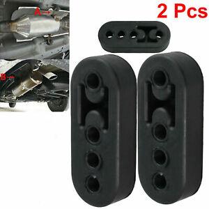 2X Car Exhaust Rubber Heavy Duty Pipe Mount Brackets Hanger Universal Black UK