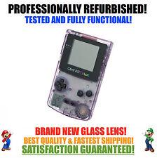 *NEW GLASS SCREEN* Nintendo Game Boy Color GBC Atomic Purple System