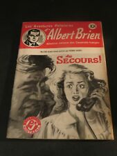 1940s ADVENTURES POLICIER ALBERT BRIEN DETECTIVE SEX MURDER FRENCH  PULP #538