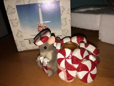 "Charming Tails ""Candy Cane Candle Holder"" Dean Griff Fitz & Floyd Christmas"