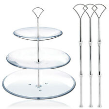 3 Tier Vintage Wedding Cake plate tiered Stand DIY HEAVY Fitting Fan Style