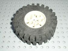 Roue LEGO TECHNIC White wheel 4266 & tyre 20 x 30 ref 4267 / Set 8868 & 8850