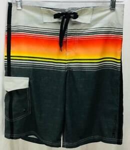 Killer Dana Shorts Size 32 Black Stripe High Rise Pocket Mens 6294