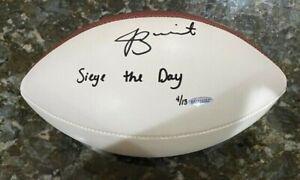 Jameis Winston Signed Auto Inscribed NFL Duke White Football 4/13 UDA COA Saints