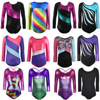 Kids Girls Mermaid 4-10Y Ballet Dance Gymnastics Leotards Fitness Unitards Gyms