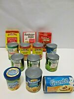VTG CDI PRETEND PLAY FOOD LOT NAME BRAND CAN GOODS CREATIVE KIDS TOYS