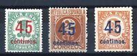 Sellos de España 1938 nº 742-744 Cifras Nuevo stamps Spain ref.A1