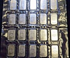 20x 1oz Vintage TD Bank Canada 999 Silver Bar - SEALED SHEET OF 20 - Scarce