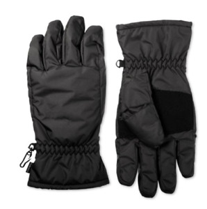 Isotoner Mens Cold Weather Waterproof Winter Gloves Black you pick size