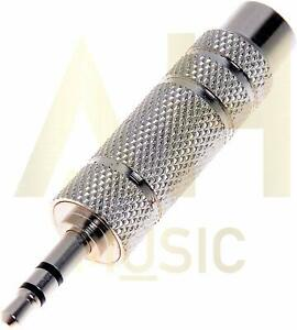 NEW: AH Music Jack to Mini Jack Adapter 🎸 Stereo 🎸 Female 6.35mm - Male 3.5mm