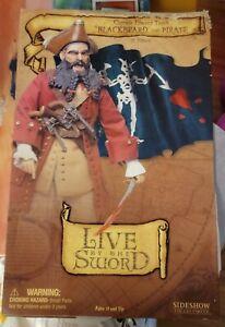 "BLACKBEARD THE PIRATE 12"" Figure Live By The Sword Edward Teach Sideshow NIB 1/6"