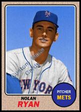Custom made Topps 1968 New york Mets Nolan Ryan  baseball  card  3