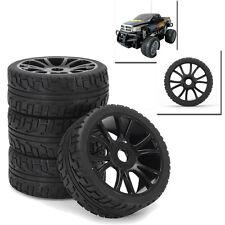 4pcs Flat RC Off-Road Car Wheel Rim & Tires Tyre Hub For HSP 1:8 Car 17mm Hex