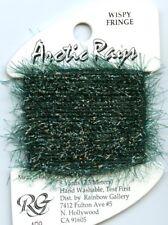 Rainbow Gallery Arctic Rays #Ar8 Tree Green Sparkly Wispy Fringe Yarn Thread 8yd
