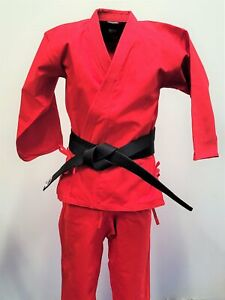 Traditional Heavy Karate uniform Red Size 3