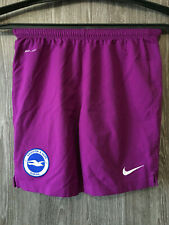 Nike Brighton and hove Albion Purple Football Soccer Shorts Shirt Jersey Youth M