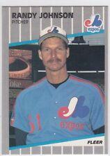1989 FLEER #381 RANDY JOHNSON ROOKIE EXPOS MINT