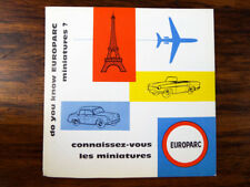 Original Vintage French CIJ Toy Model Miniature Car Brochure Diecasts Brochure