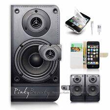( For iPhone 5 / 5S / SE ) Wallet Case Cover! P0846 Speaker