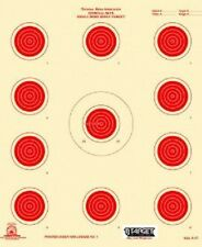 A-17 NRA Official 50 Foot small bore rifle target, (red) (100 count) Tagboard