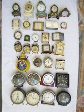 Big Lot of 32 Vintage Alarm desk clocks