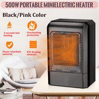 500W Mini Electric Heater Radiator Warm Air Blower Home Floor Desk Fan Heater