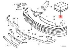 Genuine BMW E36 Cabrio Coupe Mounting Kit Front Bumper Cover OEM 51119059461