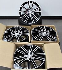 "17"" Wheels Black Machined Fits Toyota Matrix Camry Avalon Rav 4 (Rims Set 4)"