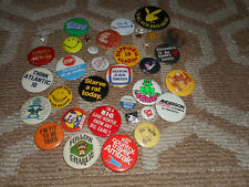 Huge Pinback Button Pin Lot Dick Tracy Movie Humor Sports Batman Music Vintage
