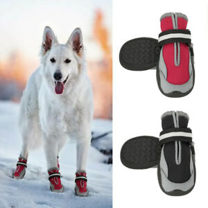 Waterproof Dog Shoes Pet Booties Paw Protection Breathable Anti-Slip Reflective