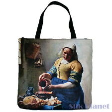 JAN VERMEER Milkmaid Milk Maid TOTE BAG FINE ART PRINT CANVAS SHOPPING Baroque