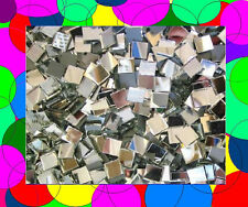 "1200 1/2"" Mirror Tiles FREE SHIP-that's 2 FULL SQFT- Handcut Silver Glass Mosaic"