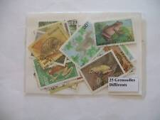 TIMBRES REPTILES / GRENOUILLES : 25 TIMBRES TOUS DIFFERENTS / STAMPS FROGS