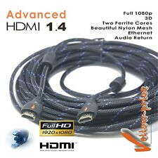30FT Advanced New v1.4 HDMI Cable w/Ethernet 1080P For Full HD xBox Blu-Ray One