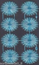 CELESTIAL HALO ANGEL BLUE MEDALLION FOIL  ORNAMENT DRESDEN PAPER GERMAN ART