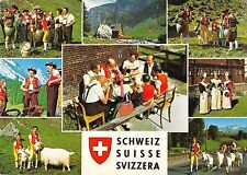 B99291 schwitzerland goat chavre  costumes types ethnics folklore