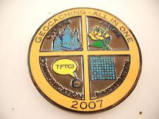 VHTF All In One 2007 Geocoin, black nickel, unactivated, trackable