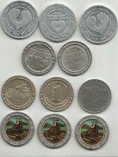 11 Casino Tokens Bally's Orleans Sahara Whiskey Pete's and Silver Legacy