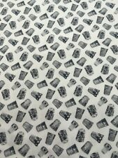 100% Cotton Thimbles Fabric By Blank   Quilting