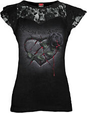 Spiral Resting With Angels Shirt Lace Mesh Top Angel Elf Gothic #3121 090 L