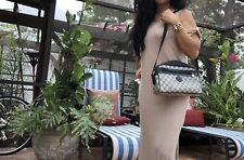 VTG Gucci Navy Blue GG Monogram Satchel Crossbody Bag