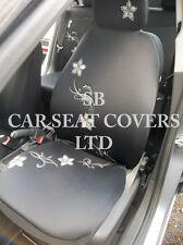 TO FIT A MITSUBISHI CARISMA CAR, SEAT COVERS, ROSSINI DIAMOND FLOWER + MATS