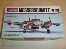 A vintage Monogram un-built plastic kit for a Messerschmitt Bf 110